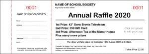 General fundraising raffle ticket design