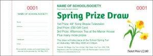 Spring Raffle Ticket with Daffodil Flower